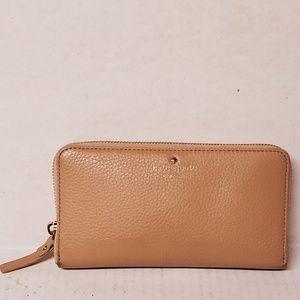 kate spade Blush Pink Pebbled Leather Wallet
